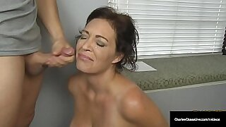 Hot Dutch MILF Security Officer Tugs Happy Husband With Fucked By Cock On The Basement Floor - 8:24