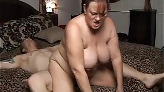 25:18: Sexy chubby mature cummed on and fucks massive cock and gets huge facial