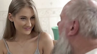 Teen beauty vs old grandpa Tiffany Tatum and Albert at xxx sexy porn