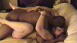 4:00: Cheating horny wife cuckold husband watch her taking black cock