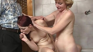 6:00: His old dad plows her pussy after mom licked it