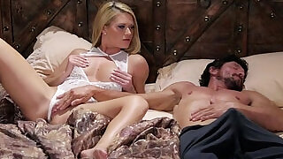 6:00: Blonde Babe and her Sleepwalker Step Dad Abby Cross and Tommy Pistol