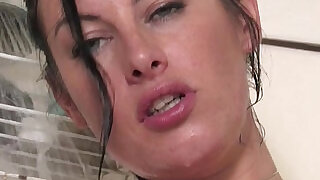 Pierced Australian pussy getting fucked with a toy - 7:00