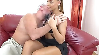 6:00: Ornella Morgan and an old guy