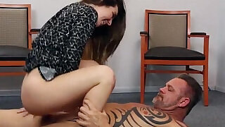 6:00: Stepdaughter and stepdad end up fucking at the office floor