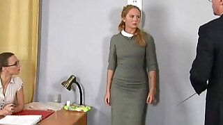 6:00: Humiliating nude job interview for shy blonde amateur girl