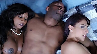 8:00: Ebony housewife and friend cum swapping