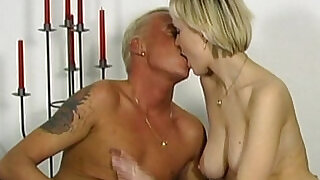 24:00: Slim big tits young amateur stepdaughter seduced by older guy to fuck wet