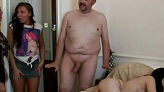 5:00: Ugly dude is forced to fuck