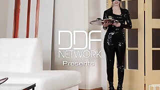 34:00: Latex Femdom enjoys Anal show on cam with Russian starlet Lucy Heart