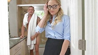 Sneaky Horny School Girl Avalon Heart Giving Her Dad - 0:00