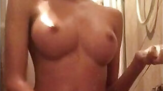 3:00: Stepsister caught in the shower