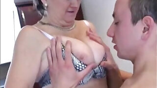 9:00: Russian granny fucked on the kitchen table