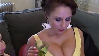 Sexy threesome at the party - 6:00
