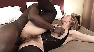 29:00: Big black monstercock for hairy amateur milf pussy being spermed on cum on pussy