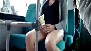 4:00: My Exhibitionist Girlfriend fingering in the bus