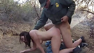 7:00: Brunette swallow compilation and blowjob stopwatch Mexican border