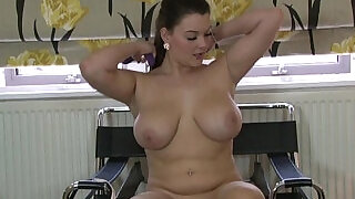 9:00: Curvaceous Big Breasted Babe Masturbates To A Real Orgasm