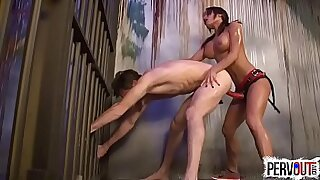 21:24: Sexy Girl Strapon Ass Tape